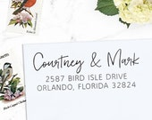 Custom Address Stamp, Personalized Address Stamp, Handwriting Stamp, Wedding Address Stamp, DIY Wedding, Eco Mount or Self Inking - Courtney