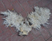 Beautiful Real White Sheep Pelt Scrap Leather