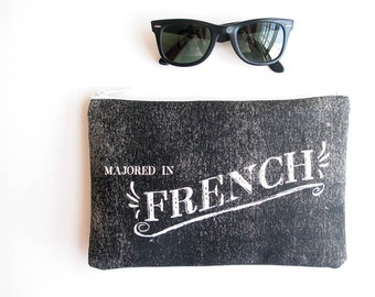 French Hillbilly Simple Zipper Pouch Smartphone Purse Funny Southern Redneck Festival Accessories Made in Nashville USA Wholesale