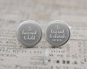 Custom Cufflinks, Personalized Cuff Links with Date, Quote, Wedding Gift for Groom