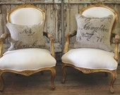 Antique French Giltwood Chairs