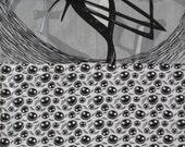 New 7 piece Nightmare Before Christmas JACK baby Crib Bedding Set w/ black and white NBC fabric custom made to order