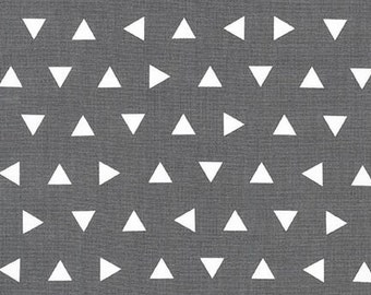Gray Triangle Fabric | AAK-15239-12 GREY by Ann Kelle from Remix Fabric by the Yard from Robert Kaufman