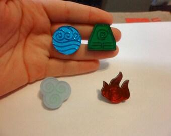 Avatar: Fire, Water, Air or Earth Pins