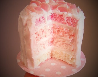 12th Scale Doll house Pink Rainbow & Turkish Delight Cake