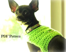 crochet dog harness pattern~small to medium dog~ easy and fast to make~lightweight and warm~PDF pattern~digital download