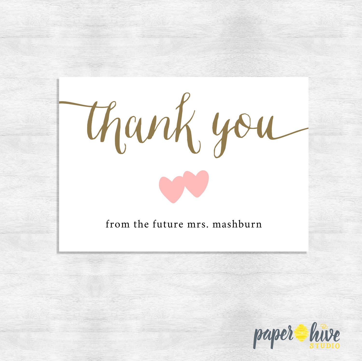 Calligraphy Thank You Cards Wedding Thank You Cards Shower