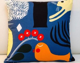 """Marimekko Pillow Cover, Handmade, 16""""x16"""" (40x40cm)"""