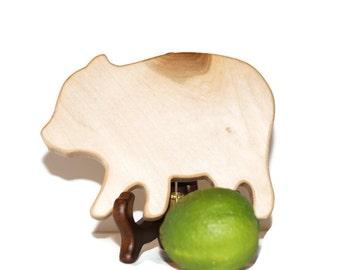 Mini Pig Cutting board, Cute Mini bar, country home decor, country kitchen farm house decor wet bar board mini wood cutting board wooden pig
