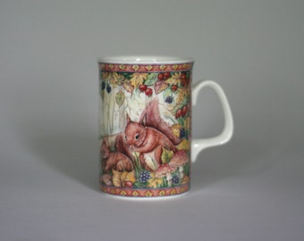 vintagr royal doulton woodland friends coffee mug 1993