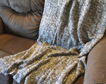 Oakwood Prayer Shawl Knitted Afghan 40 x  65 machine washable, acrylic blend - Ready To Ship Today