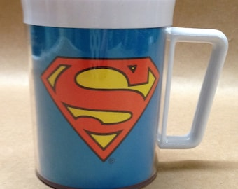 Superman Cup or Mug 1980s Made USA by Eagle