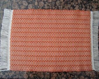 Handwoven Placemats - Orange