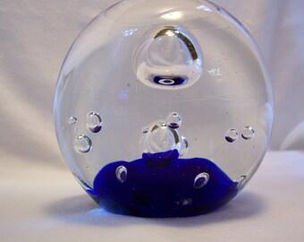 Paperweight, Cobalt Blue, Blue Paperweight