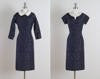 Galactic Dot . vintage 1950s dress . vintage dress & jacket . 5345
