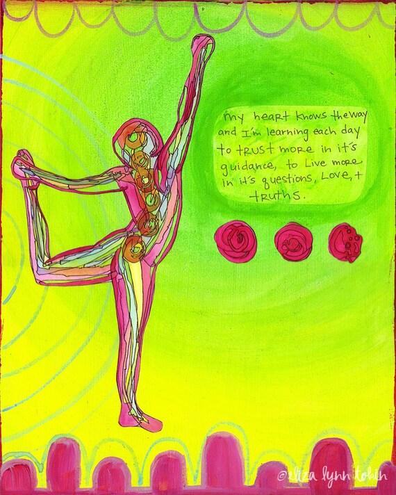 Yoga Art Print - Truth - yoga wall art, yoga studio decor, yoga artwork, yoga gift