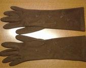RESERVED  Vintage 1960's Brown Gloves