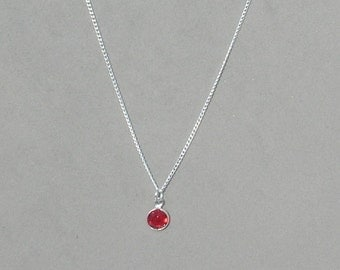 January Birthstone- Siam Drop Necklace