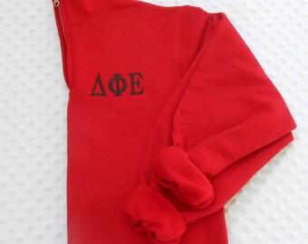 Greek Letter Monogrammed Quarter  Zip Sweatshirt.. Pullover  ... 1/4 Zip...  Quick Shipping...