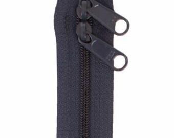 Handbag Zipper 30in Navy Blue Double Slide