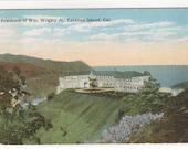Wrigley Home Catalina Island California 1922 postcard
