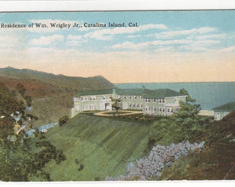 Wrigley Home Catalina Island California 1922 postcard