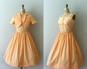 Vintage 1950s Sundress and Bolero - 50s Sherbet Cotton 3 Piece Dress Set - Double Scoop