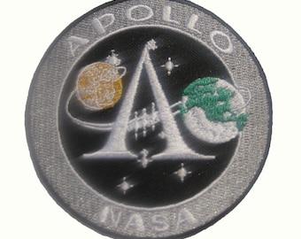 "NASA APOLLO 11 XI 40TH Badge Patch 8x8 cm 3.1"""