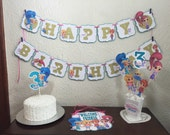 Shimmer and Shine Personalized Banner/ cake topper/ paper straws/ cupcake toppers/ center piece/ welcome sign/ and more.