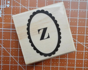 Lowercase Z Rubber Stamp