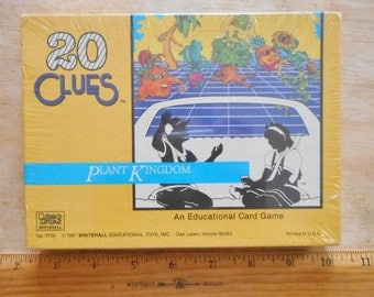 Vintage 20 Clues Plant Kingdom Card Game 1991 Whitehall No7108