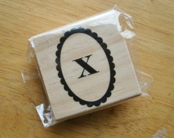 Lower Case X Rubber Stamp
