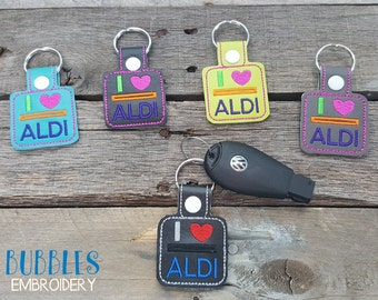 Aldi quarter keeper keyring lots of colors available