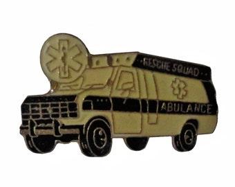 vintage EMT Ambulance Driver enamel pin lapel EMS Emergency