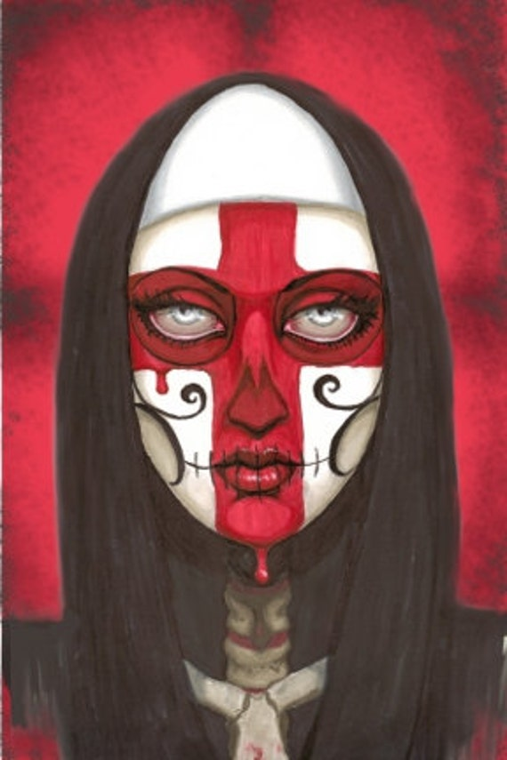 Day of the Dead Sanguine Nun canvas print