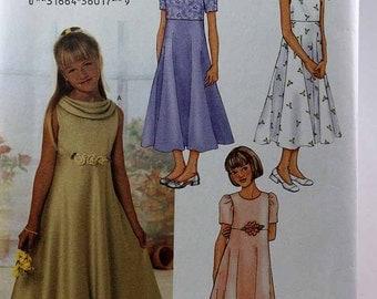 Butterick 3714, Girls' Dress Pattern, Sewing Pattern, Party Dress Pattern, Size 12, 14, 16, New and Uncut