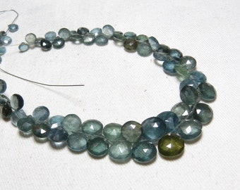 Truly Awesome  Amazing  Quality - Moss AQUAMARINE - super sparkle Faceted Heart Briolett - huge size - 5 - 10 mm - 10 inches Long