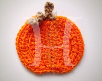 The Perfect Pumpkin Crochet Applique for Autumn, Fall, Harvest, and Halloween projects