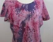 Crackle Tie Dye Pink Size XXL