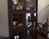 Antique Department of Justice Lawyer Cabinets with Wavy Glass Display
