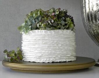 "Gold Cake Stand 18"" Wedding Cake Stand Vintage Gold Round Rustic Wedding Event Decor E. Isabella Designs Featured In Martha Stewart Weddings"