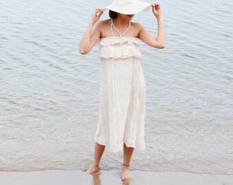 Pris...Cotton Halter Maxi Dress