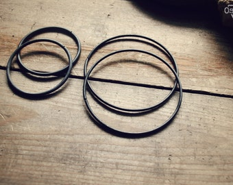 Snake - 12 gauge, Dark Copper Hoops