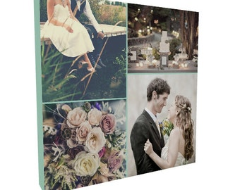Personalized Canvas Print, 10x10, Photo Collage, Photo Canvas, Photo on Canvas, Photo Print, Custom Canvas, Anniversary Gift
