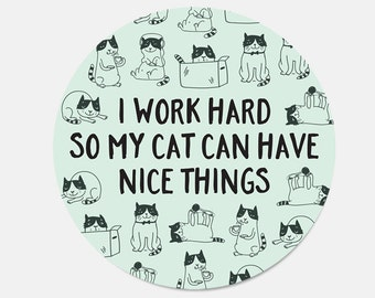 Mouse Pad Cat Lover Gift Cat Mousepad Coworker Gift Birthday Gift for Her Birthday Gift for Girlfriend New Job Gift Office Supplies Cubicle