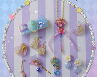 Transparent UV Resin craft jewelry making fantasy lovely set Collection --- Japanese Craft Book BK119