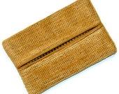 Wheat, Golden Velour, Fall Colors, Travel Tissue Holder, Kleenex Holder, Travel Tissue Cozy, Pocket Tissue Holder, Purse Tissue Pouch