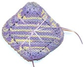 Mini-Hand Knit Dish Cloths, Lavender Knitted  Scrubbies, Face Scrubbers, Reusable Wet Wipes, Coasters