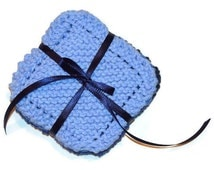 Mini-Hand Knit Dish Cloths, Scrubbies, Face Scrubbers, Reusable Wet Wipes, Coasters