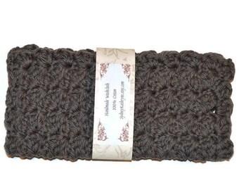 Fancy Face Cloth, Spa Washcloth, Crocheted Wash Cloth, Spa Facewasher, Crocheted Dishcloth Grey, Gray